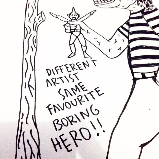 Different Artist Same Favourite Boring Hero, diambil dari instagram @methodos.jpg