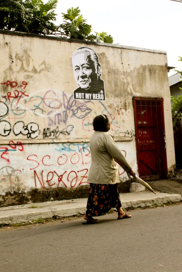 Foto dokumentasi ©ANTI-TANK PROJECT 01 - Soeharto Not My Hero