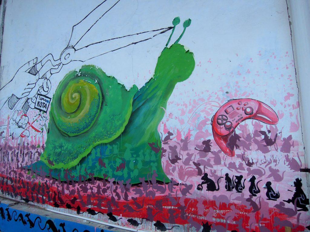 detail karya mural oleh Cut Putri