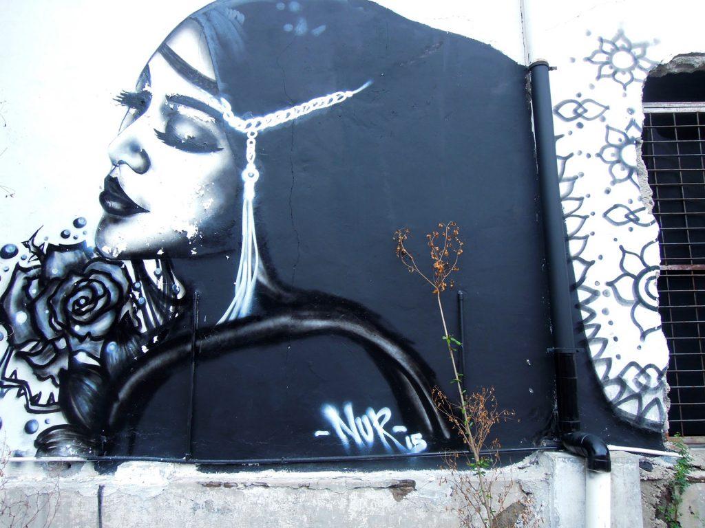 detail karya mural oleh NUR
