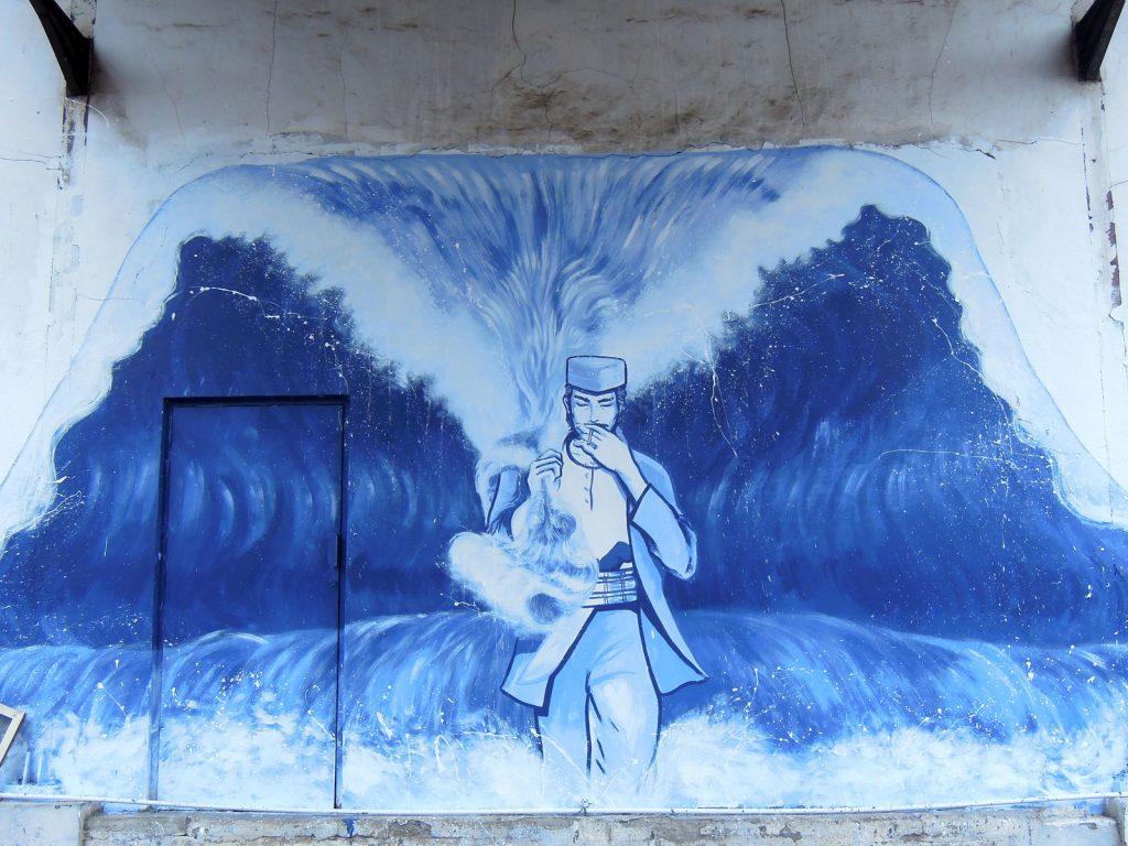 karya mural oleh Sari Sartje